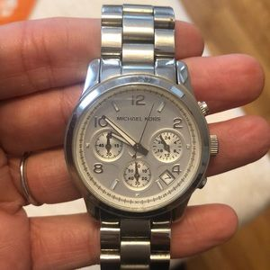 Michael Kors large silver watch